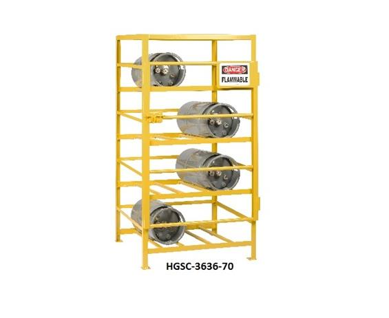 ALL-WELDED GAS CYLINDER CAGE